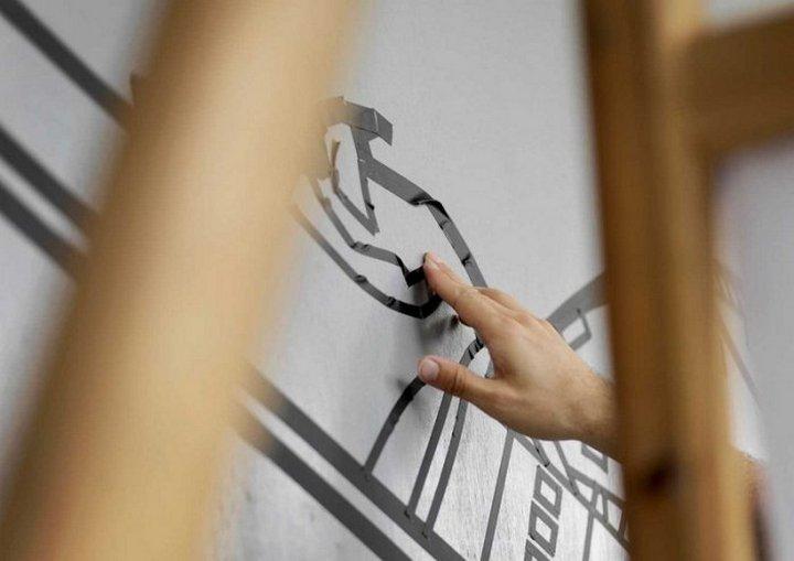 Скотчевый стрит-арт, креатив, необычное (9)