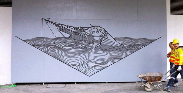 Скотчевый стрит-арт, креатив, необычное (16)