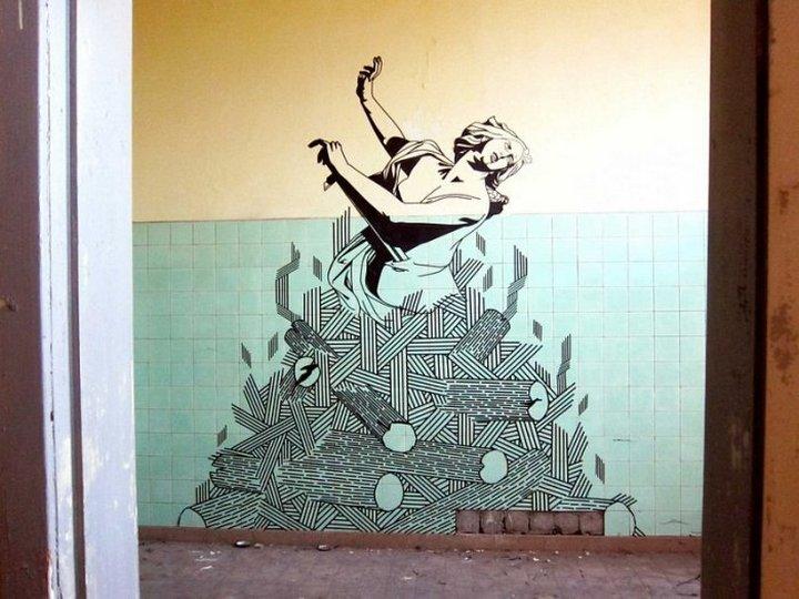 Скотчевый стрит-арт, креатив, необычное (12)