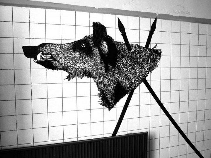 Скотчевый стрит-арт, креатив, необычное (4)