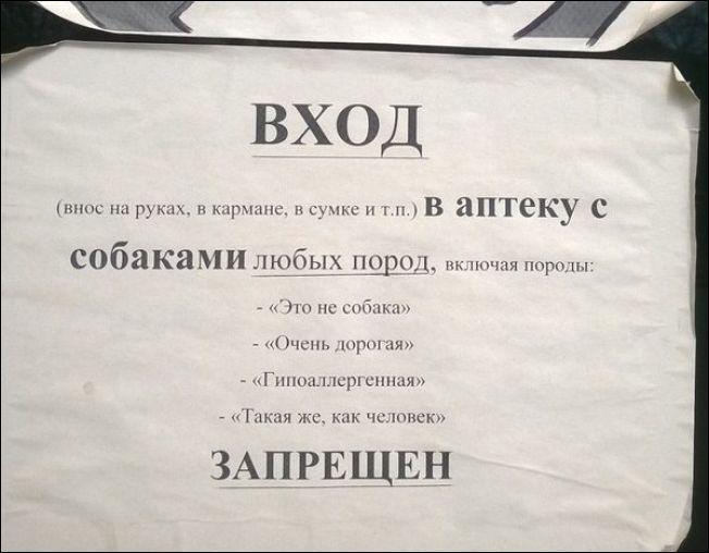 Прикольные надписи и обьявления (2)