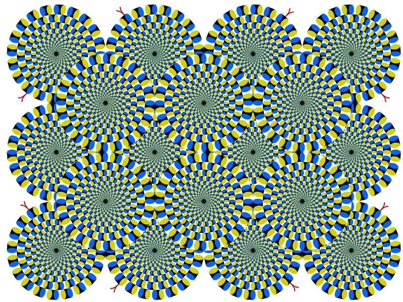 Иллюзия «Вращающиеся змеи»